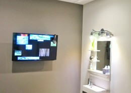 London Ontario Dentist TV on ceiling