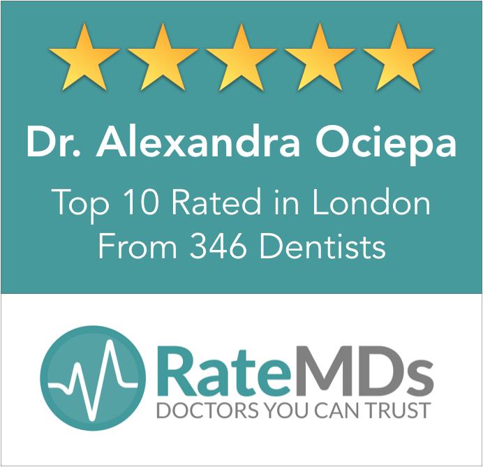 RateMDs top rated best dentist London ontario
